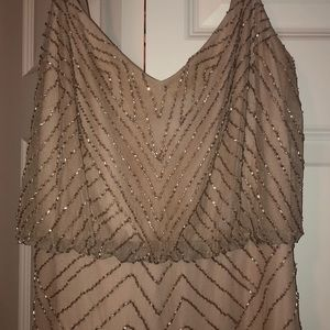 Anthropologie Brand Adrianna Papell Beaded Dress